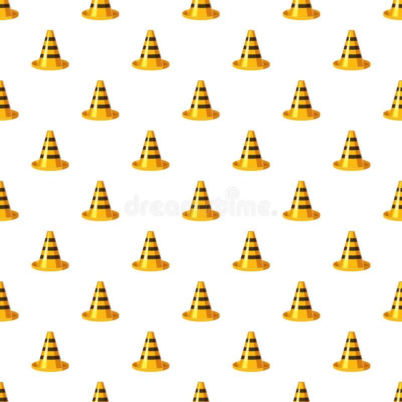 Teste padrão amarelo e preto do cone do tráfego ilustração royalty free