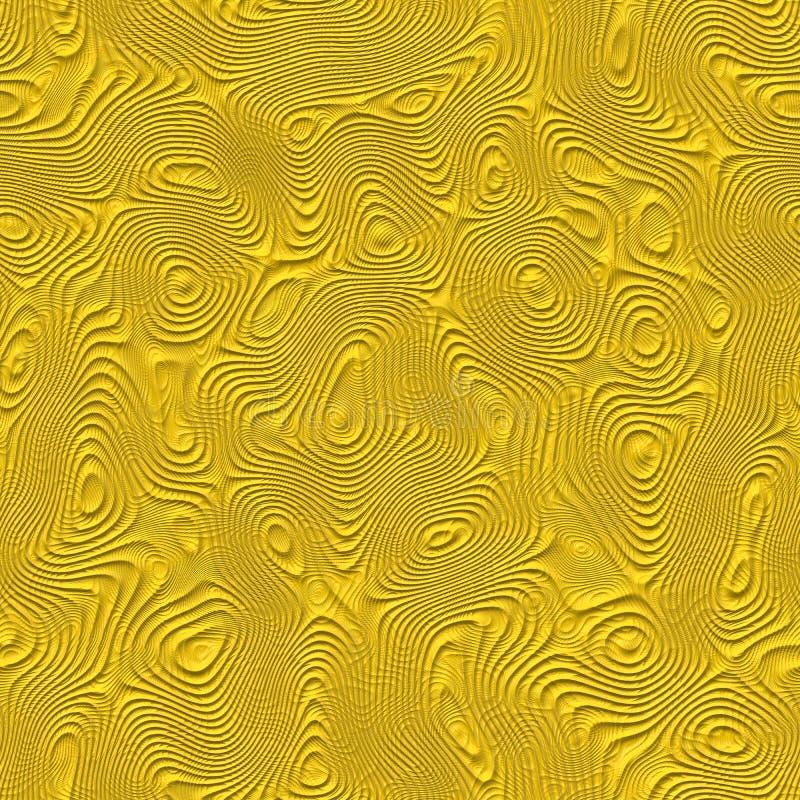 Teste padrão amarelo sem emenda ilustração do vetor