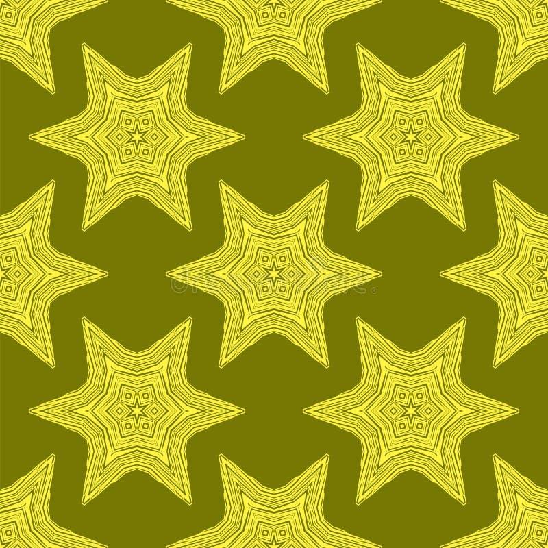 Teste padrão amarelo sem emenda decorativo criativo ilustração do vetor