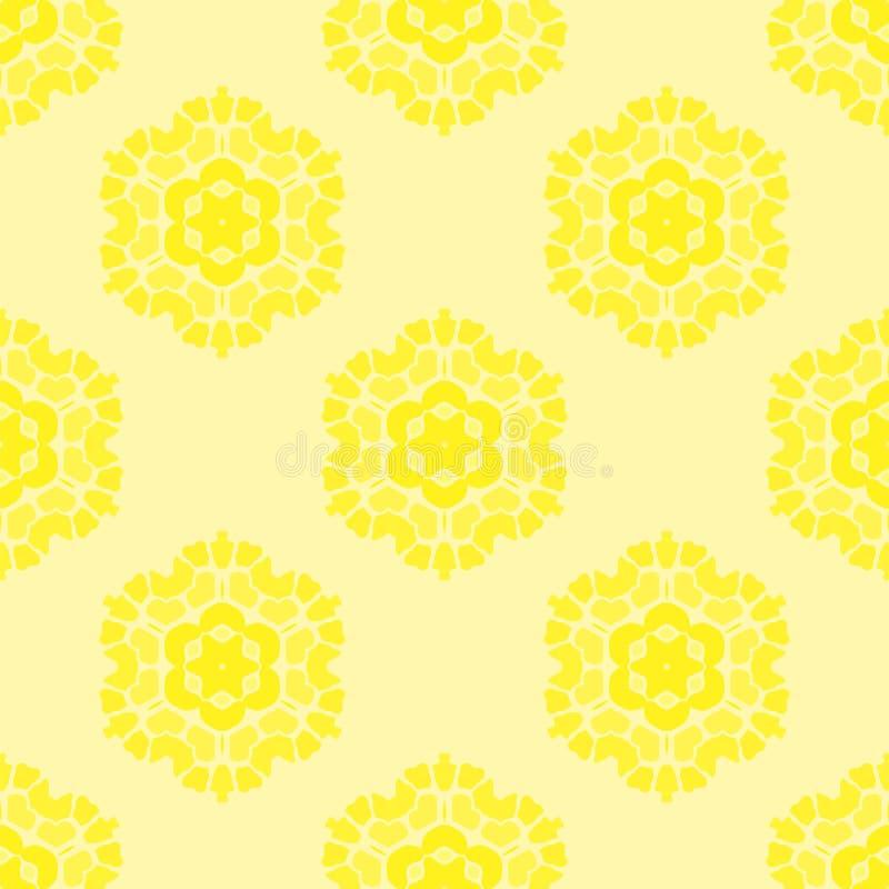 Teste padrão amarelo sem emenda decorativo criativo ilustração royalty free