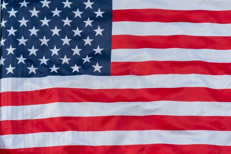 Teste padrão americano ascendente próximo do flagbackground Fundo da bandeira americana fotos de stock