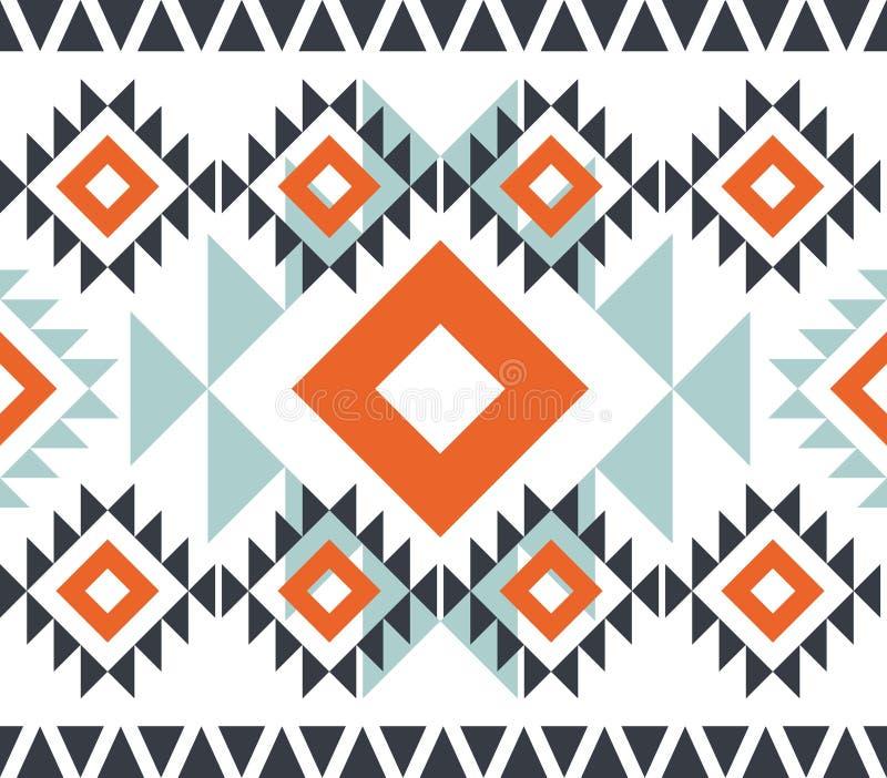 Teste padrão americano Ornamento sem emenda geométrico ilustração do vetor