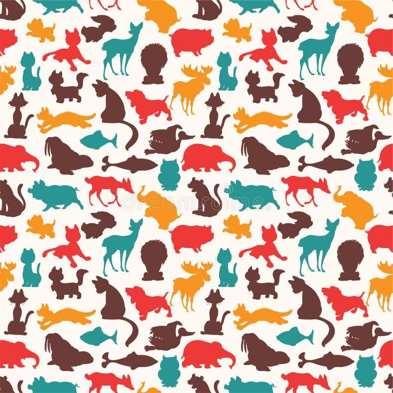 Teste padrão animal sem emenda ilustração royalty free