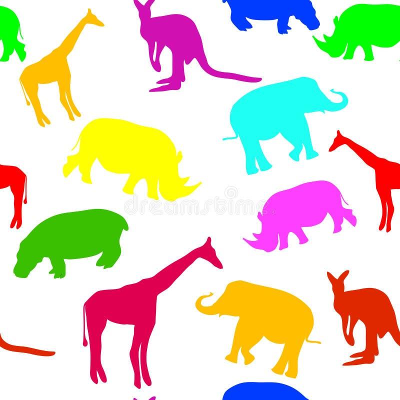 Teste padrão animal sem emenda ilustração stock