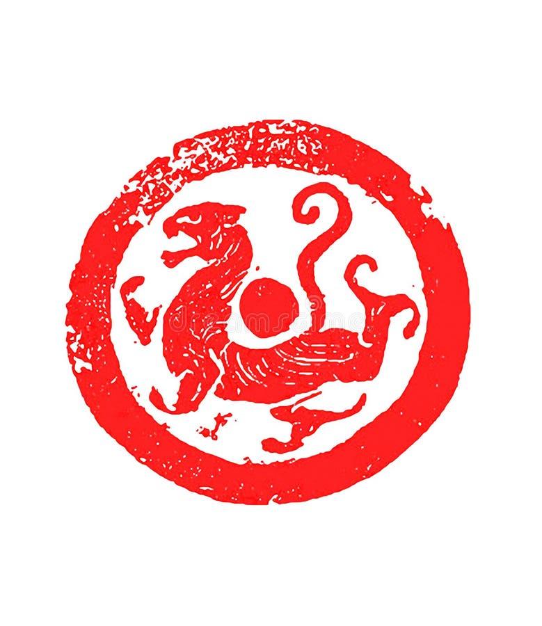 Teste padrão antigo chinês das telhas ilustração royalty free