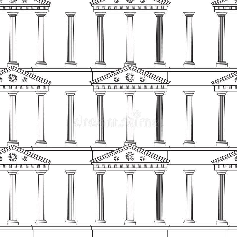 Teste padrão antigo da colunata ilustração royalty free