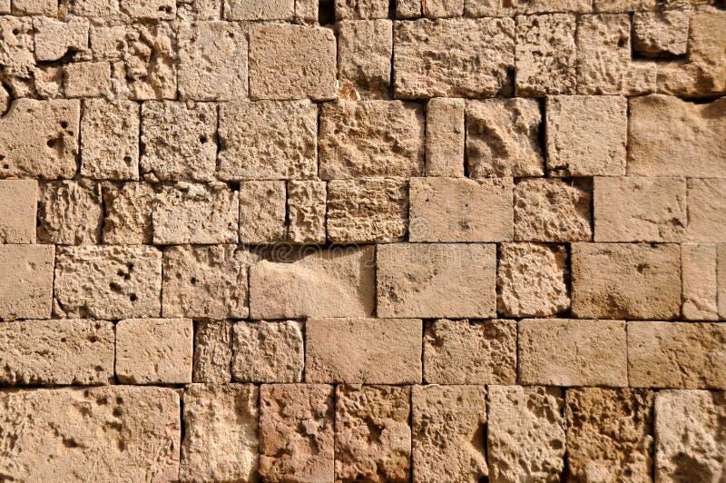 Teste padrão antigo grego da parede do Rodes fotos de stock