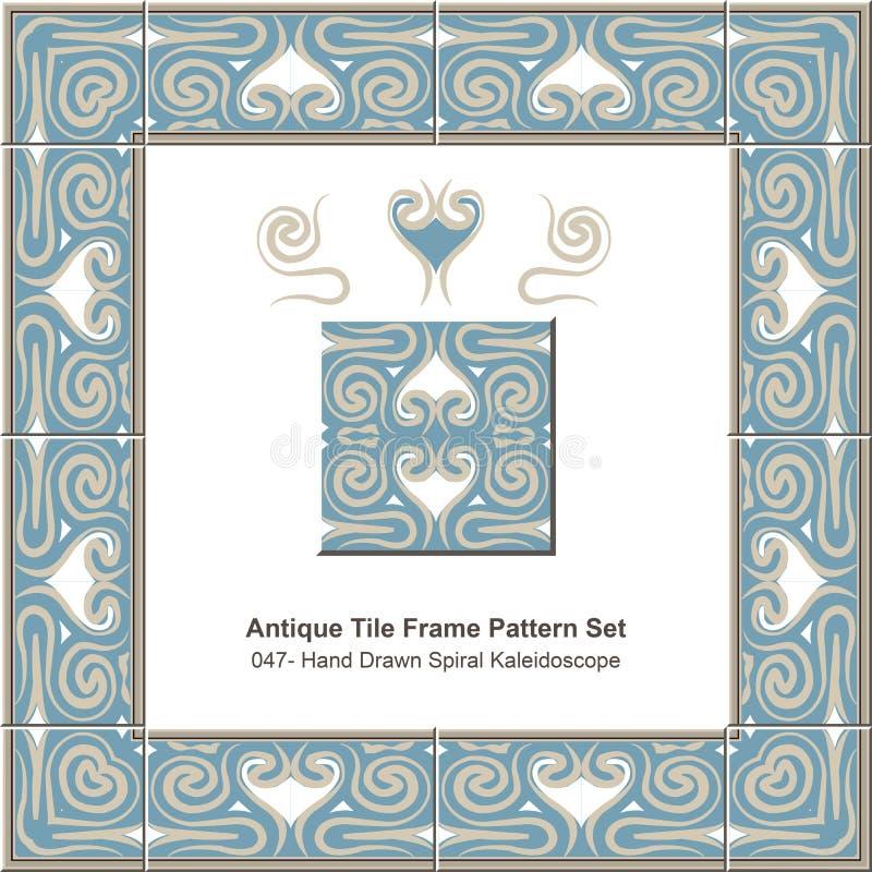 Download Teste Padrão Antigo Set_047 Kaleidoscop Espiral Tirado Mão Do Quadro Da Telha Ilustração do Vetor - Ilustração de pattern, suficiências: 65575293