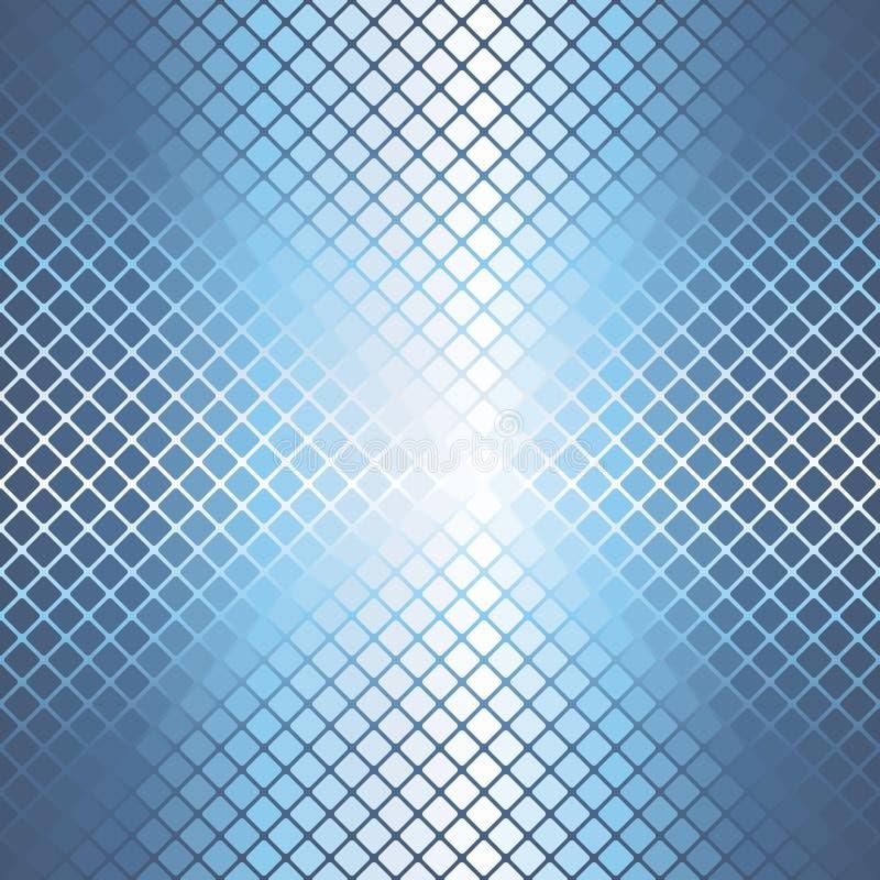 Teste padrão arredondado de incandescência do diamante Fundo sem emenda do vetor ilustração stock