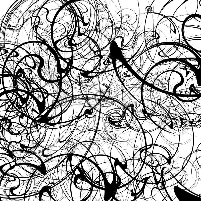Teste padrão artístico com efeito curvy da distorção Geometri abstrato ilustração do vetor