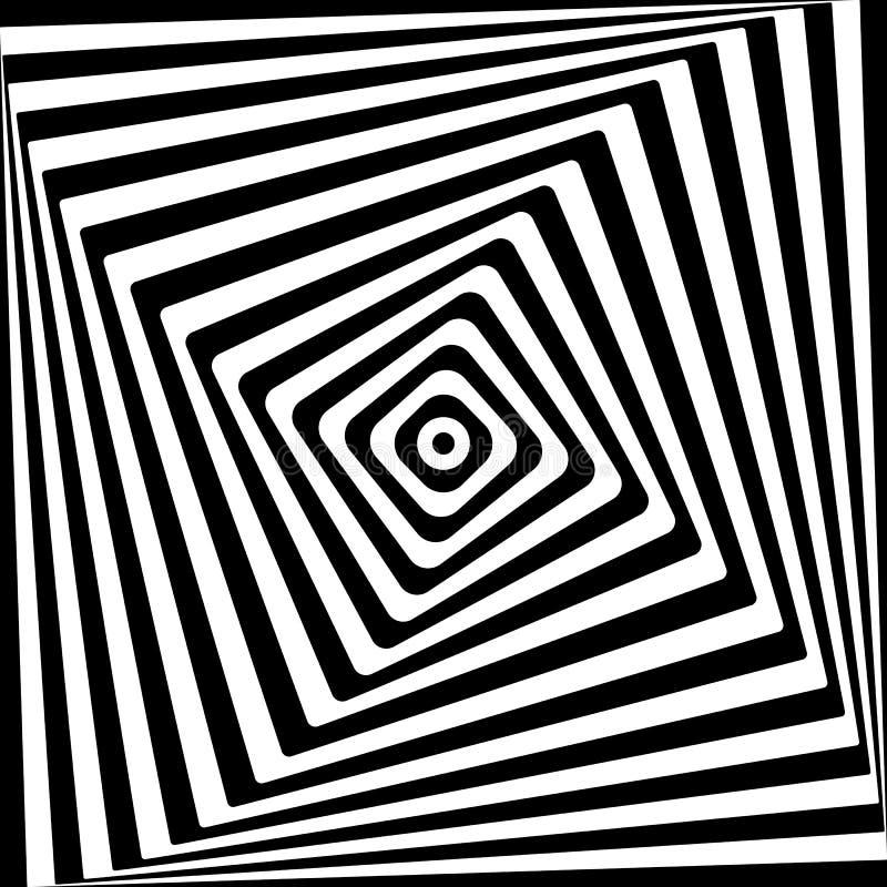 Teste padrão artístico moderno para o fundo Teste padrão da ilusão das listras do movimento Contexto abstrato, molde para a tampa ilustração do vetor