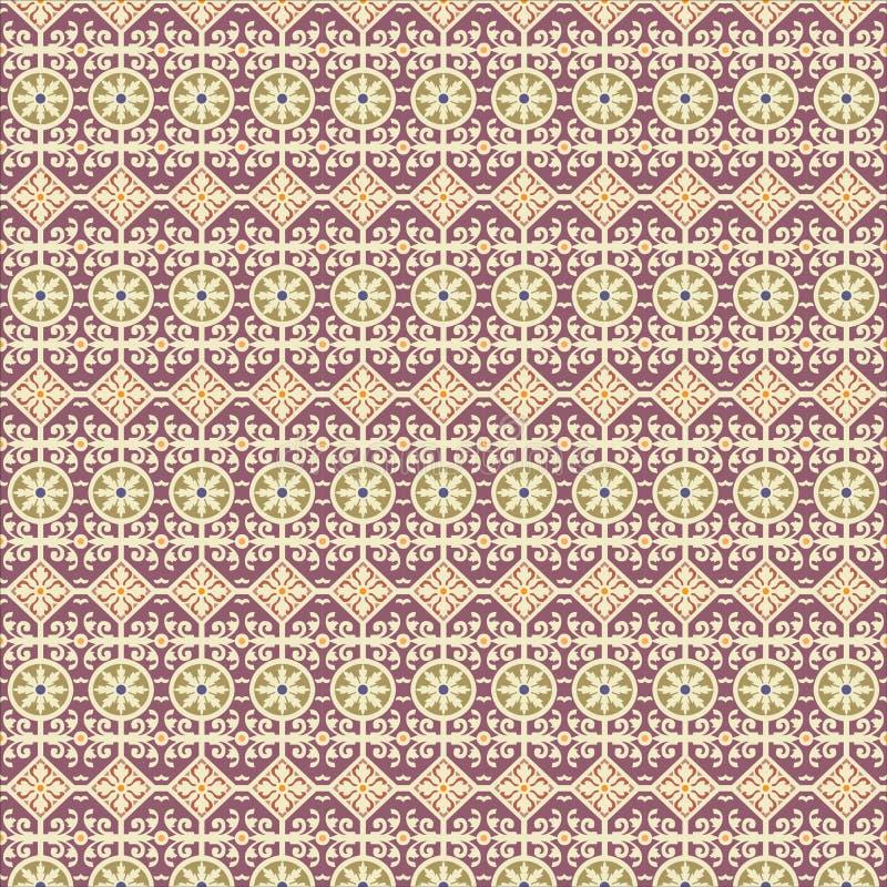Teste padrão Art Deco do ornamento do papel de parede do fundo de Ilustration do vetor, arte do projeto do Arabesque ilustração do vetor