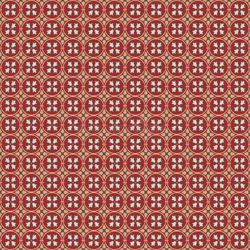 Teste padrão Art Deco do ornamento do papel de parede do fundo de Ilustration do vetor, arte do projeto do Arabesque ilustração royalty free