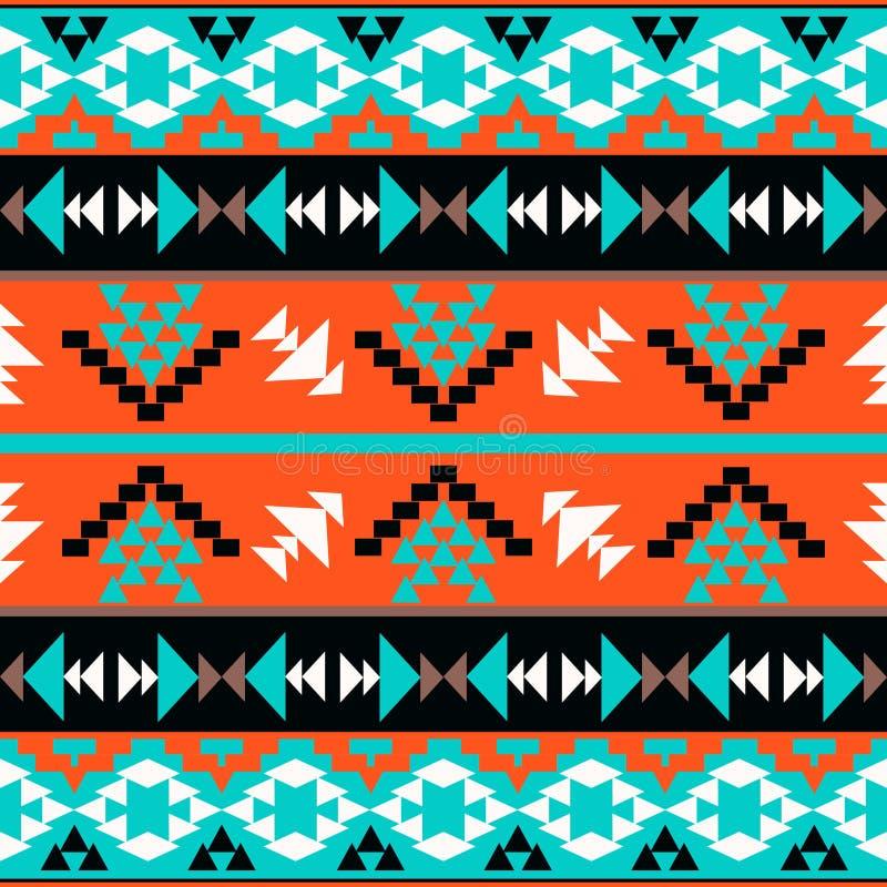 Teste padrão asteca colorido sem emenda ilustração royalty free