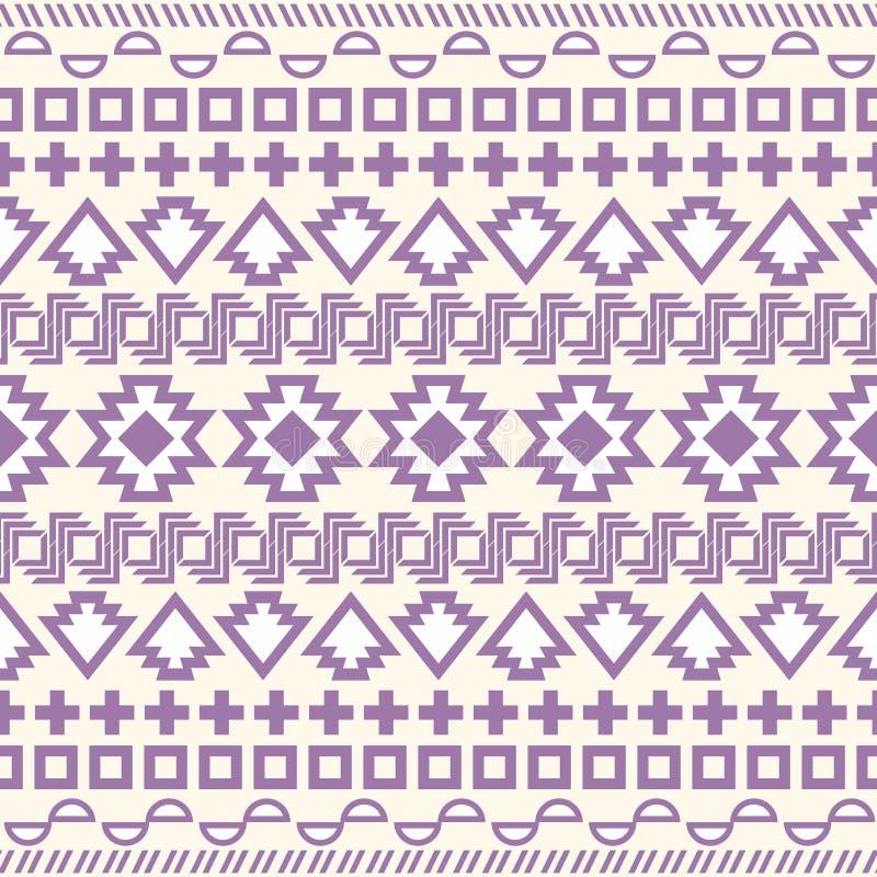 Teste padrão asteca sem emenda ilustração stock