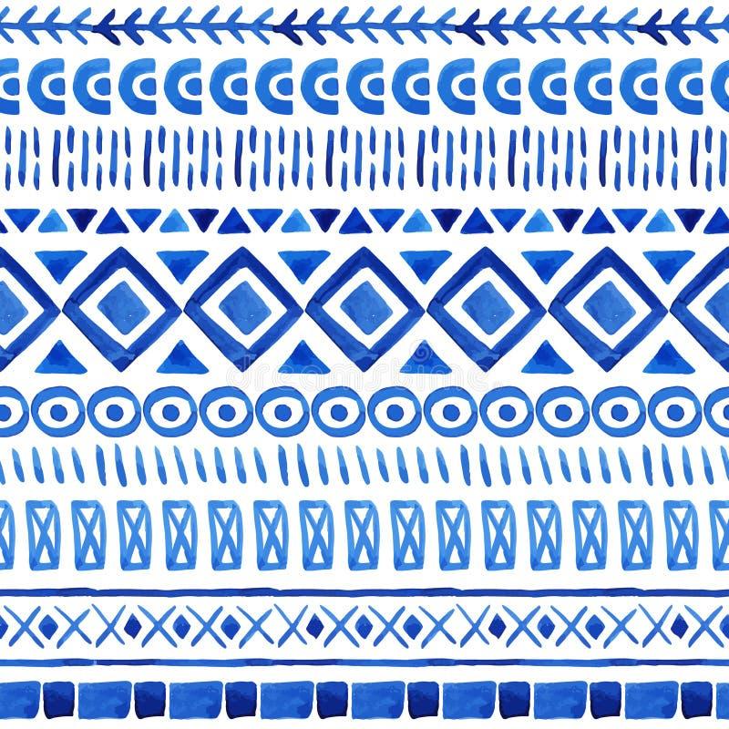 Teste padrão asteca sem emenda ilustração do vetor
