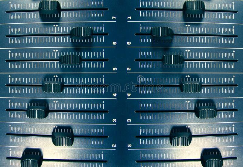 Teste padrão audio dos faders imagem de stock