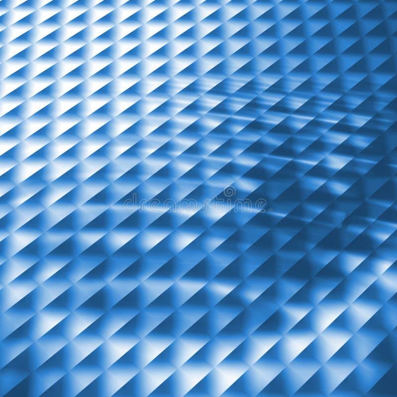 Teste padrão azul ilustração do vetor