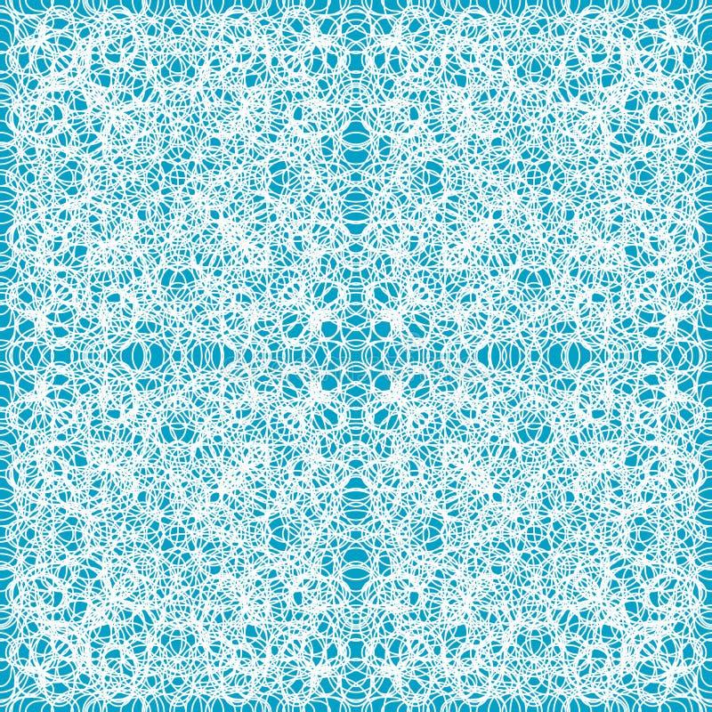 Teste padrão azul abstrato sem emenda ilustração royalty free