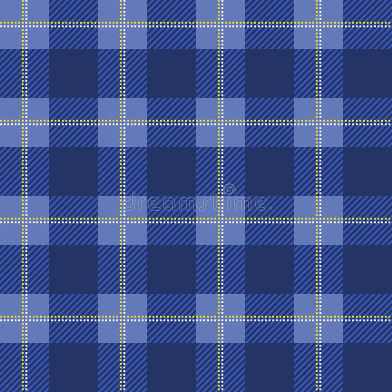 Teste padrão azul da manta do lenhador Fundo sem emenda do vetor Alternar sobrepondo pilhas pretas e coloridas ilustração stock