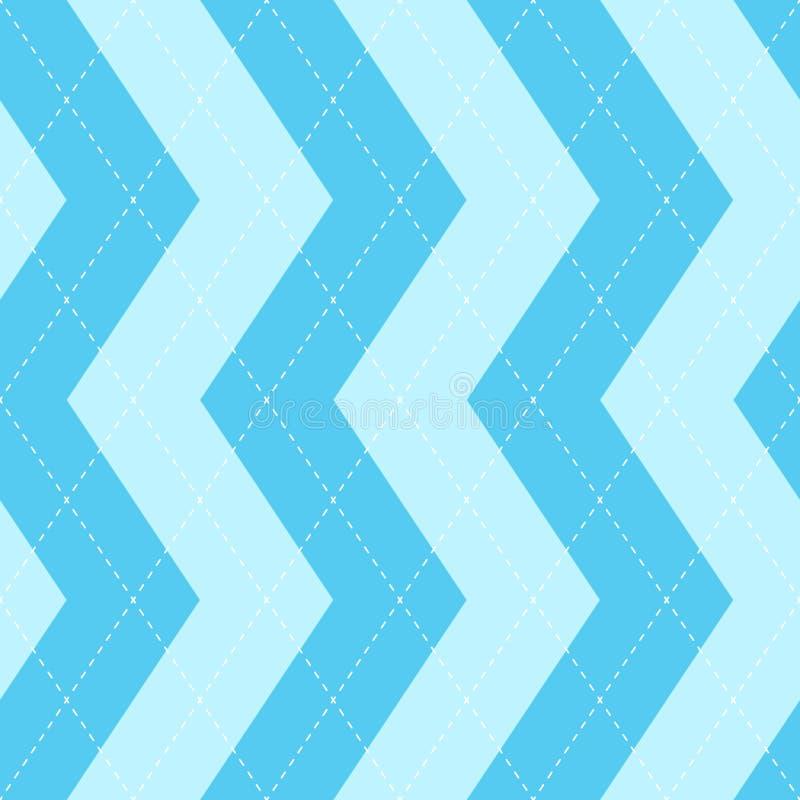 Teste padrão azul da manta sem emenda do argyle Verificação do diamante ilustração stock