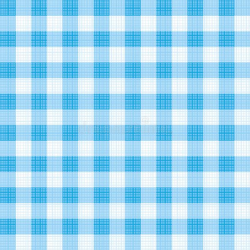 Teste padrão azul da repetição do guingão ilustração stock