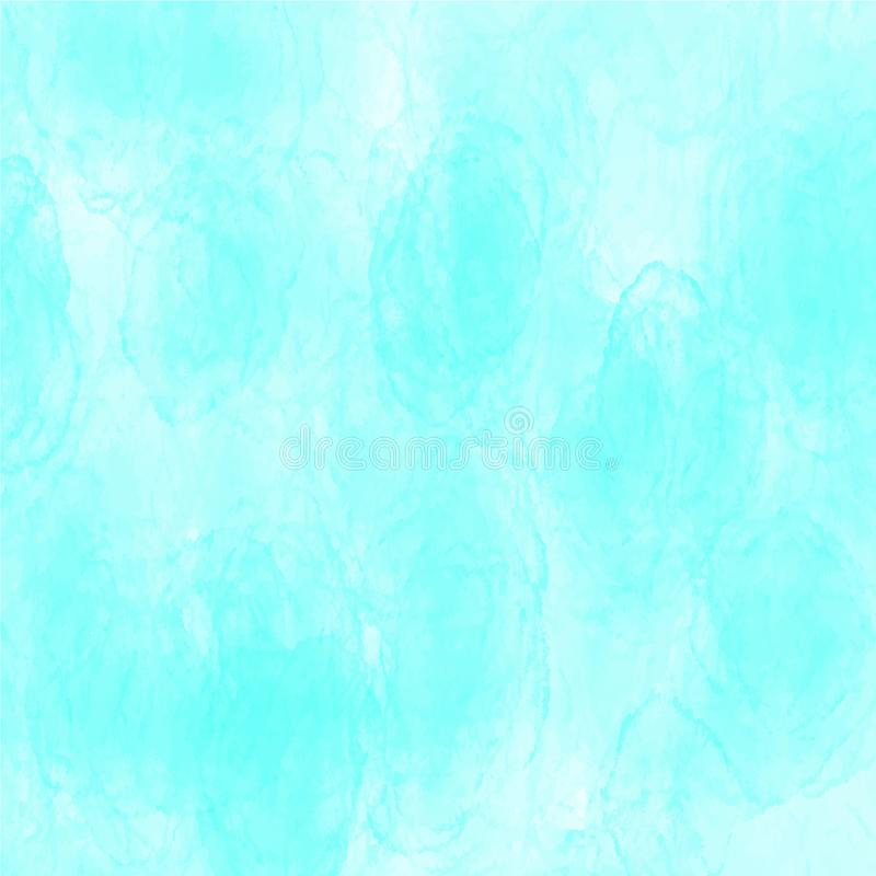 Teste padrão azul da textura do vetor do fundo da aquarela para Web site, apresentações ou arte finala imagens de stock royalty free