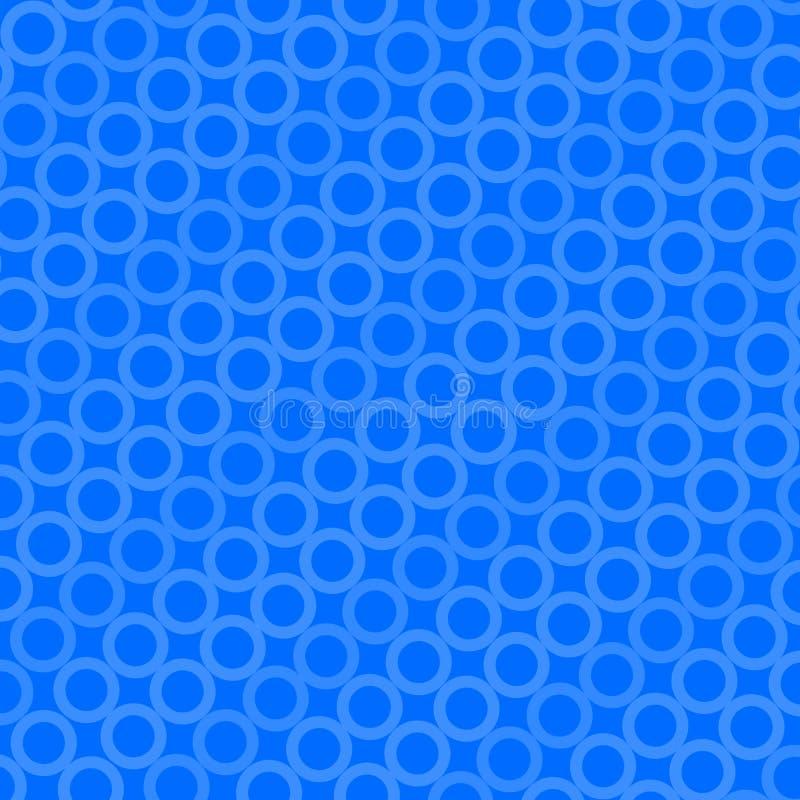 Teste padrão azul do círculo ilustração do vetor