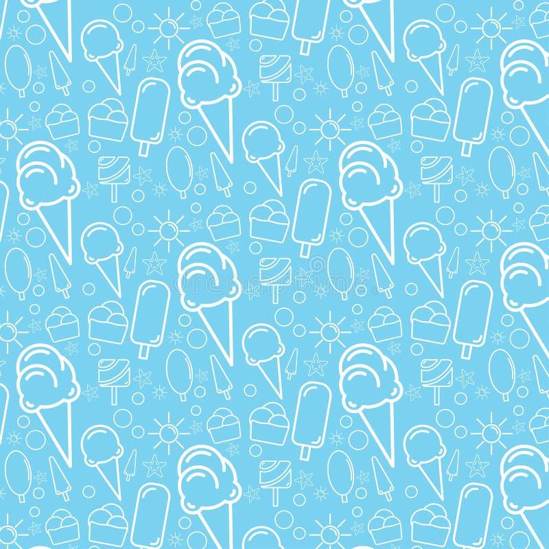 Teste padrão azul do gelado fotografia de stock royalty free