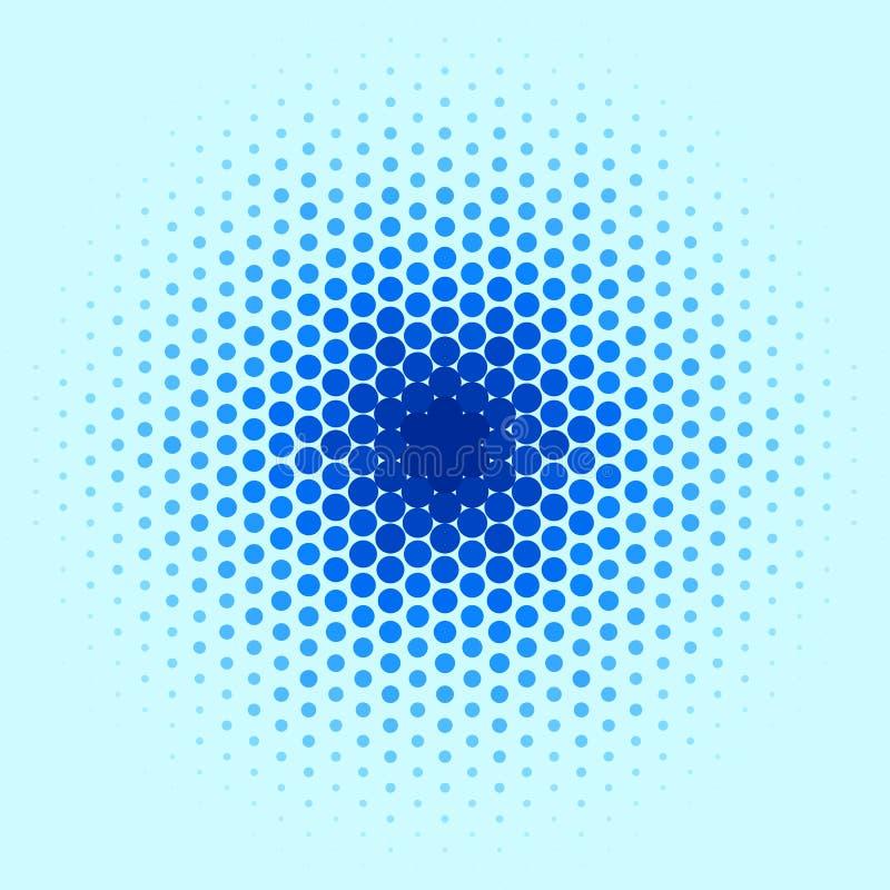 Teste padrão azul do ponto ilustração stock