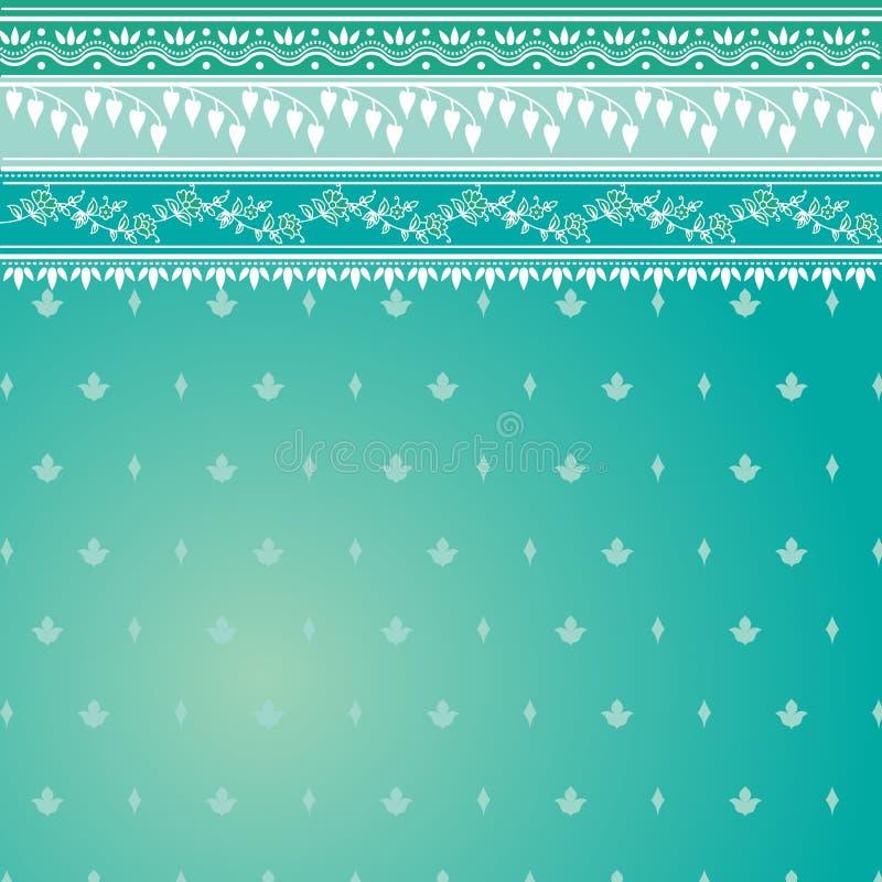 Teste padrão azul do sari ilustração royalty free