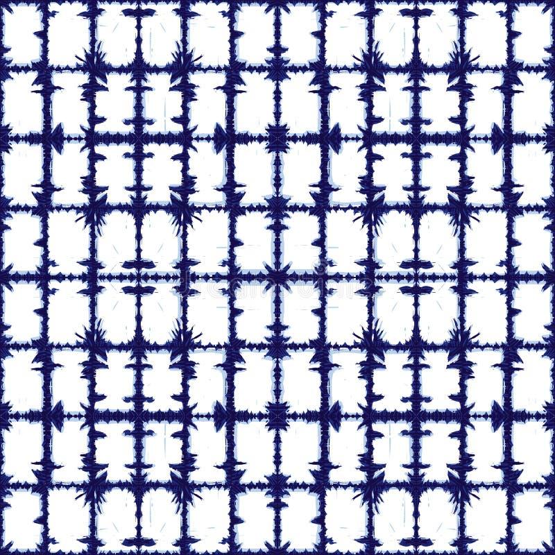 Teste padrão azul do sumário da grade dos retângulos do vetor Apropriado para a matéria têxtil, o papel de embrulho e o papel de  ilustração stock