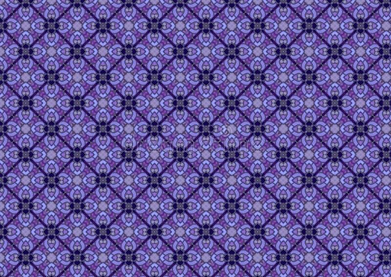 Teste padrão azul do vidro manchado imagem de stock royalty free