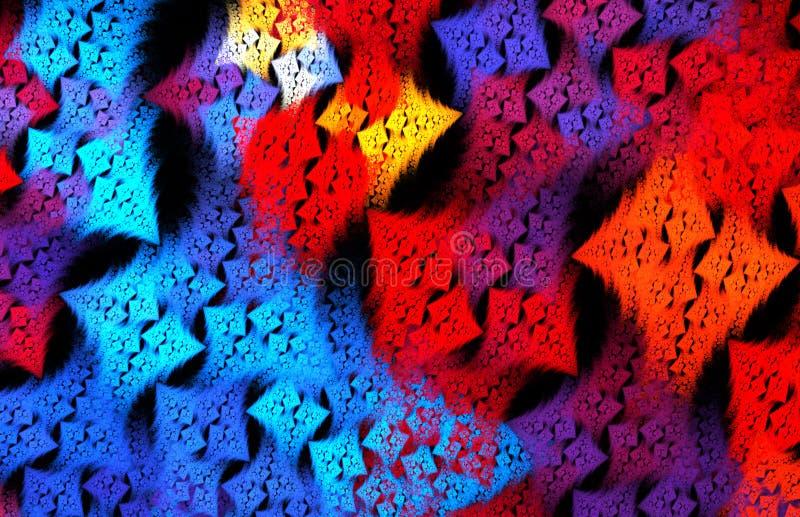 Teste padrão azul e vermelho funky abstrato do checkeredl para a tela, wallp ilustração royalty free