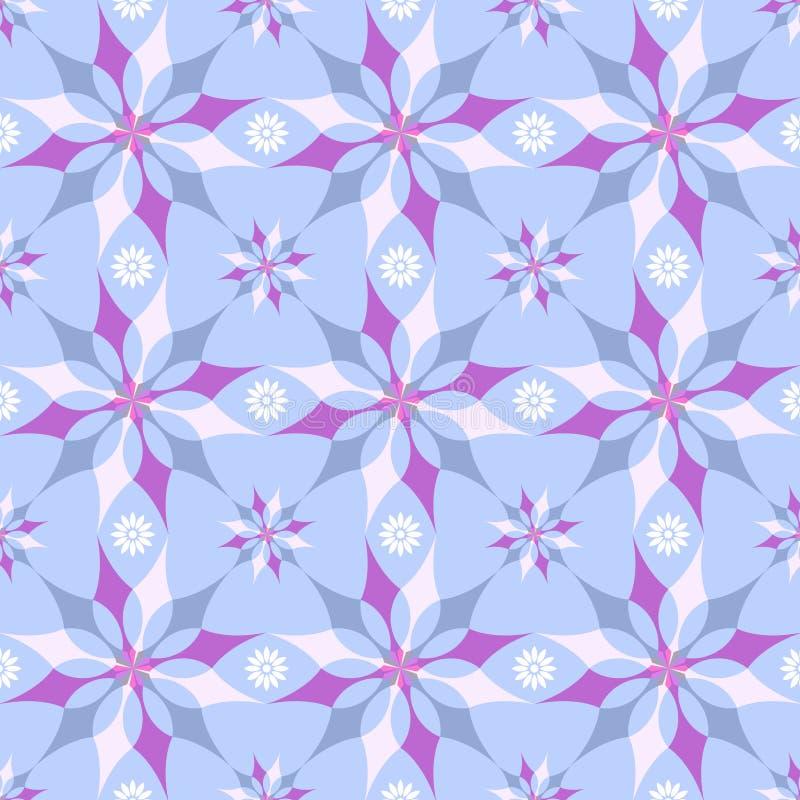 Teste padrão azul floral ilustração stock
