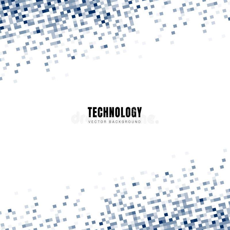 Teste padrão azul geométrico diagonal dos quadrados do sumário no fundo branco e textura com espaço para o texto Estilo da tecnol ilustração royalty free