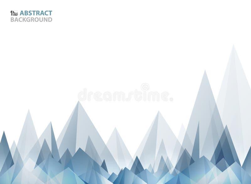 Teste padrão azul largo macio do triângulo do sumário geométrico da forma da montanha ilustração royalty free