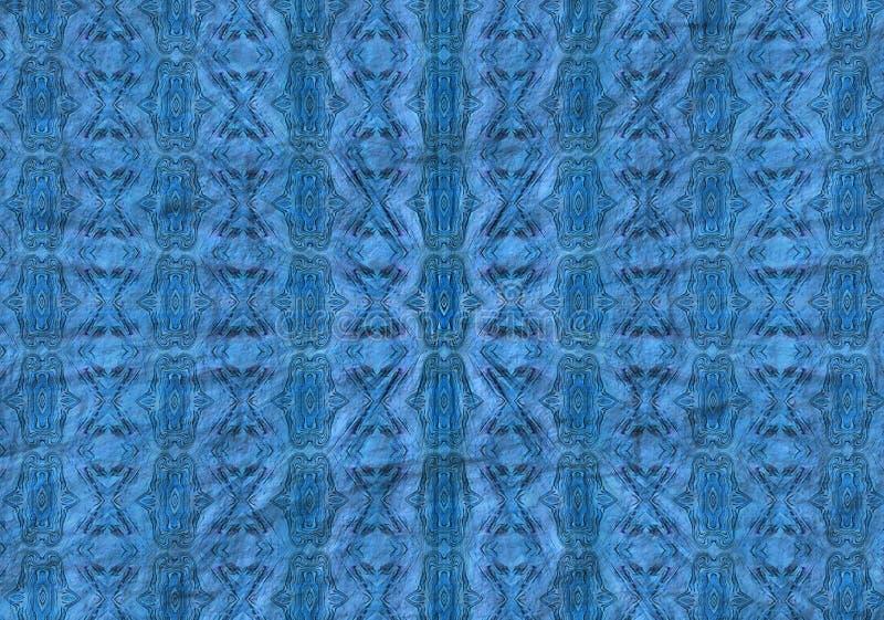 Teste padrão azul radial ilustração do vetor