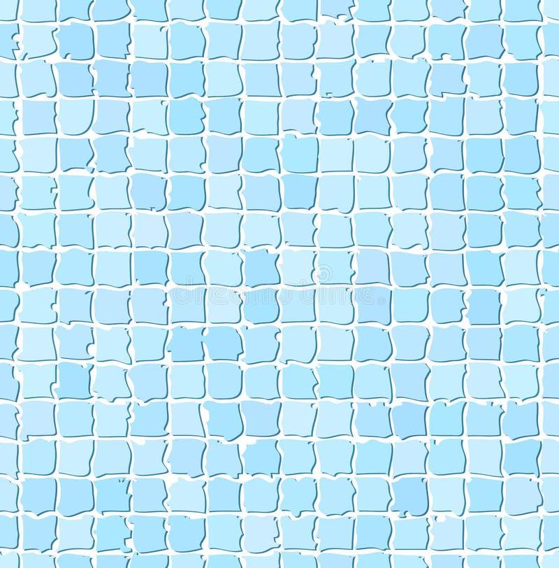 Teste padrão azul sem emenda da telha ilustração do vetor
