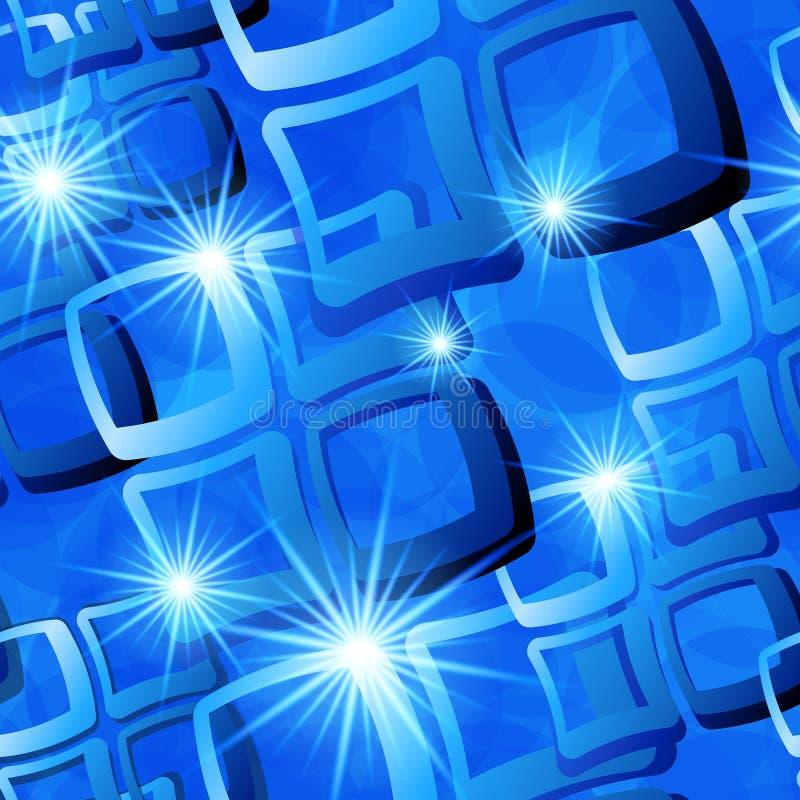 Teste padrão azul sem emenda da telha ilustração royalty free