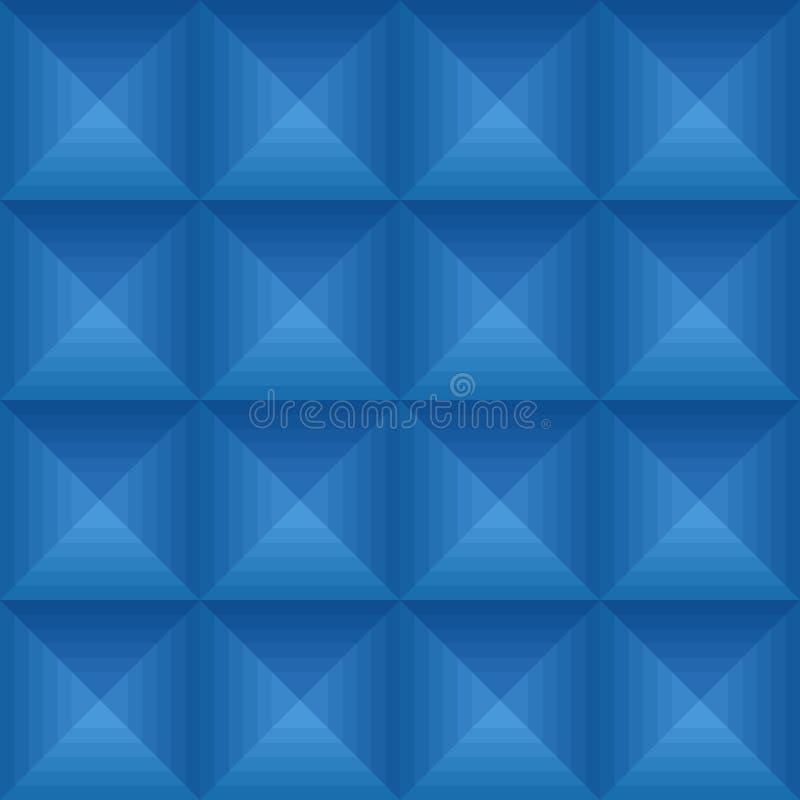 Teste padrão azul sem emenda do ethno com quadrados ilustração do vetor