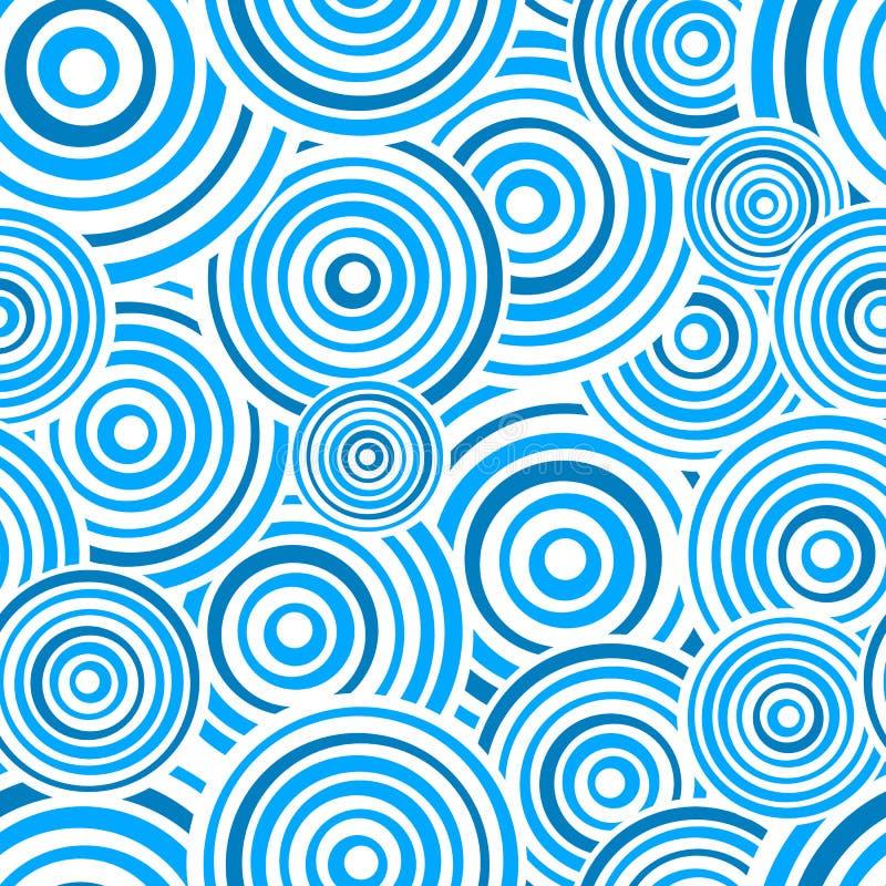 Teste padrão azul sem emenda dos anéis ilustração stock