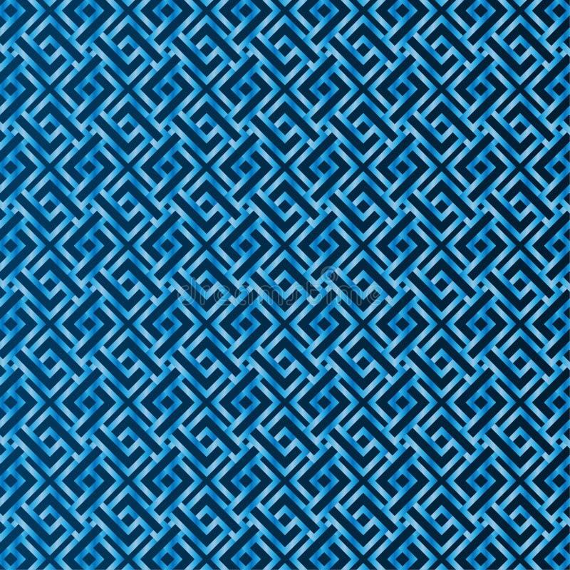 Teste padrão azul sem emenda o fundo ilustração do vetor