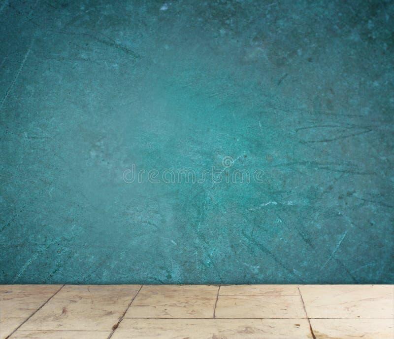 Teste padrão azul textured Grunge da parede e do assoalho imagem de stock royalty free
