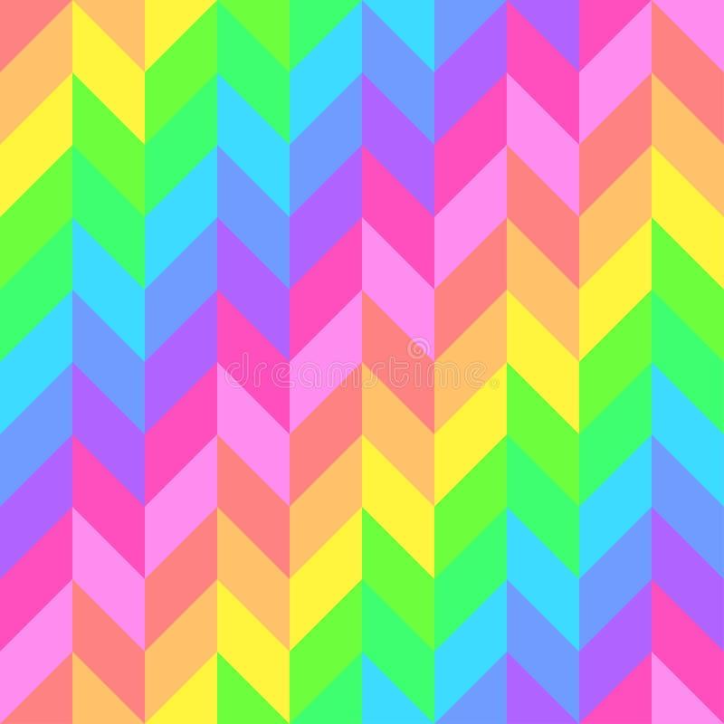 Teste padrão bonito brilhante sem emenda de listras diagonais e horizontais iridescentes da espessura igual para meninas ou crian ilustração stock