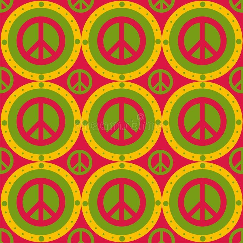 Teste padrão bonito da paz ilustração royalty free