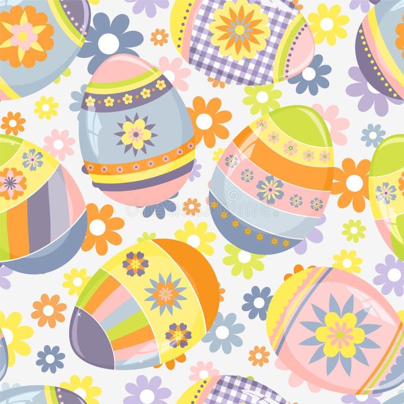 Teste padrão bonito de Easter ilustração do vetor
