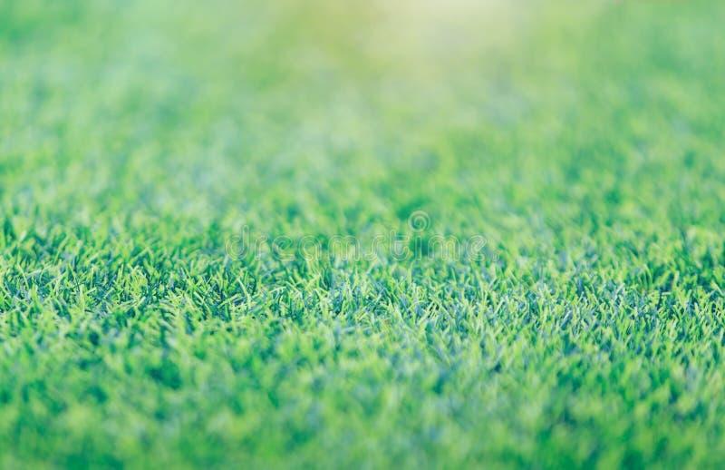 Teste padrão bonito do fundo do campo de futebol da grama verde da grama verde fresca para o esporte do futebol fotos de stock royalty free