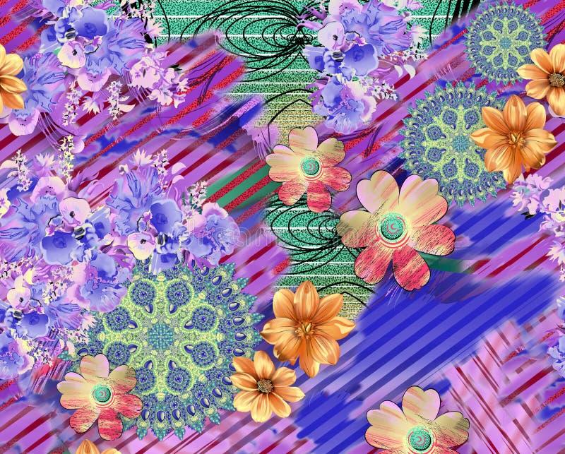 Teste padrão bonito do fundo da flor ilustração do vetor