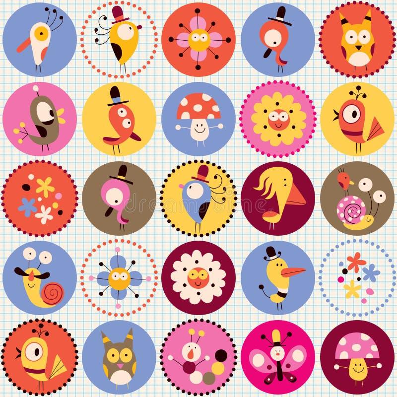 Teste padrão bonito dos caráteres ilustração stock